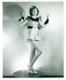 Erma, pictured here at age nine, started tap lessons at the age of five. Erma claimed she wasn't very good, but she soon landed a spot in the Kiddie Review, a local radio show. 1936