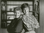 """Erma pictured here with actress Miriam Flynn who portrayed the quintessential housewife, Maggie Weston, in ABC's """"Maggie."""" Bombeck created the series."""