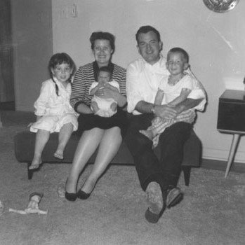 The Bombeck family: Erma, Bill, Betsy, Matt and Andy.