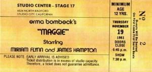 """""""Maggie"""" ticket"""
