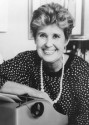 Erma used a typewriter for her entire career. This photo was taken some time in the 1980s.